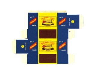 Pattern for printing boxes - Matchbox Major Packs-M7 Шаблон для печати коробочек