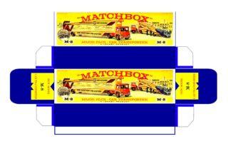Pattern for printing boxes - Matchbox Major Packs-M8 Шаблон для печати коробочек