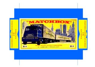 Pattern for printing boxes - Matchbox Major Packs-M9 Шаблон для печати коробочек