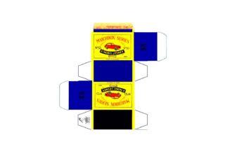 Pattern for printing boxes - Matchbox MB 53 Шаблон для печати коробочек