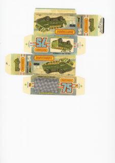 Pattern for printing boxes - Matchbox MB 54 Шаблон для печати коробочек