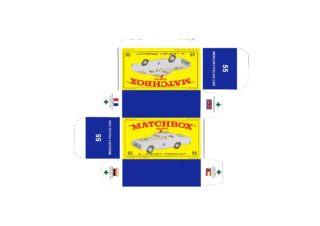 Pattern for printing boxes - Matchbox MB 55 Шаблон для печати коробочек