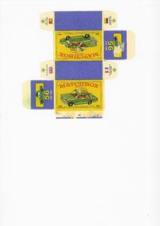 Pattern for printing boxes - Matchbox MB 56 Шаблон для печати коробочек