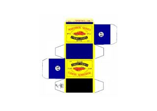 Pattern for printing boxes - Matchbox MB 57 Шаблон для печати коробочек