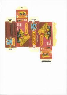 Pattern for printing boxes - Matchbox MB 58 Шаблон для печати коробочек