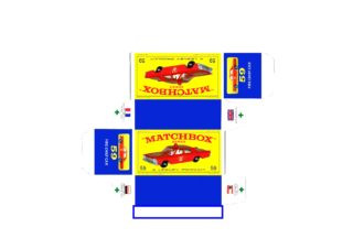 Pattern for printing boxes - Matchbox MB 59 Шаблон для печати коробочек