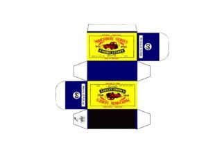 Pattern for printing boxes - Matchbox MB 60 Шаблон для печати коробочек