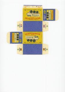 Pattern for printing boxes - Matchbox MB 61 Шаблон для печати коробочек
