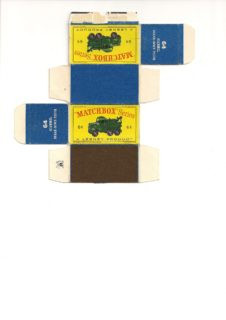 Pattern for printing boxes - Matchbox MB 64 Шаблон для печати коробочек