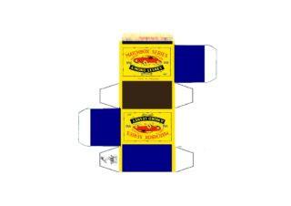 Pattern for printing boxes - Matchbox MB 65 Шаблон для печати коробочек