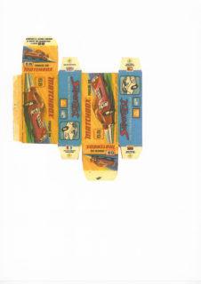 Pattern for printing boxes - Matchbox MB 68 Шаблон для печати коробочек