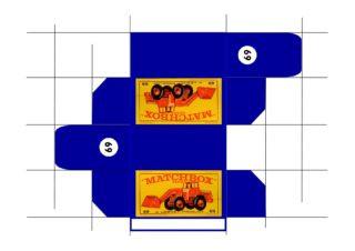 Pattern for printing boxes - Matchbox MB 69 Шаблон для печати коробочек