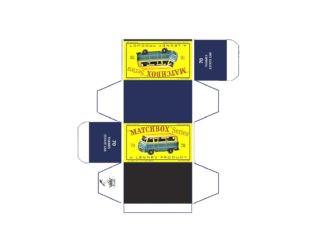 Pattern for printing boxes - Matchbox MB 70 Шаблон для печати коробочек