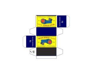 Pattern for printing boxes - Matchbox MB 72 Шаблон для печати коробочек