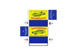 Pattern for printing boxes - Matchbox MB 73 Шаблон для печати коробочек