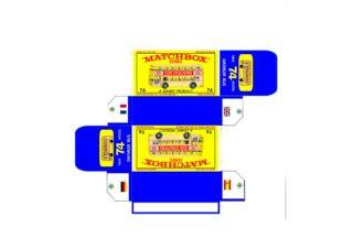 Pattern for printing boxes - Matchbox MB 74 Шаблон для печати коробочек