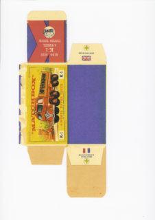 Pattern for printing boxes - Matchbox «King Size series» K-1 Шаблон для печати коробочек