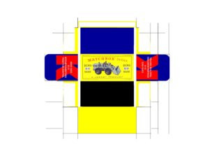 Pattern for printing boxes - Matchbox «King Size series» K-10 Шаблон для печати коробочек