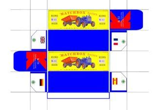 Pattern for printing boxes - Matchbox «King Size series» K-11 Шаблон для печати коробочек