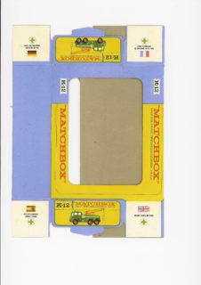 Pattern for printing boxes - Matchbox «King Size series» K-12 Шаблон для печати коробочек