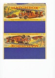 Pattern for printing boxes - Matchbox «King Size series» K-15 Шаблон для печати коробочек