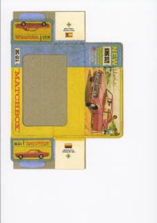 Pattern for printing boxes - Matchbox «King Size series» K-21 Шаблон для печати коробочек