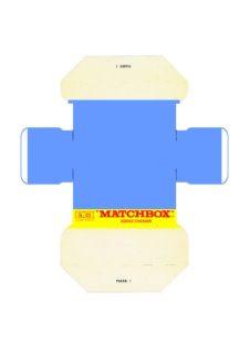 Pattern for printing boxes - Matchbox «King Size series» K-22 Шаблон для печати коробочек