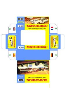 Pattern for printing boxes - Matchbox «King Size series» K-23 Шаблон для печати коробочек