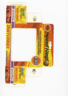 Pattern for printing boxes - Matchbox «King Size series» K-40 Шаблон для печати коробочек