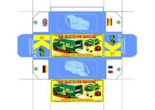 Pattern for printing boxes - Matchbox «King Size series» K-5 Шаблон для печати коробочек