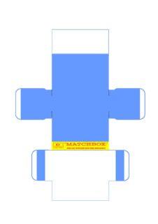 Pattern for printing boxes - Matchbox «King Size series» K-6 Шаблон для печати коробочек