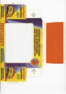 Pattern for printing boxes - Matchbox «King Size series» K-7 Шаблон для печати коробочек