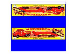 Pattern for printing boxes - Matchbox «King Size series» K-8 Шаблон для печати коробочек