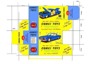Corgi toys, Matchbox, Dinky, Templates for printing boxes Corgi toys