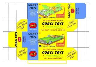 Corgi toys - Matchbox, Dinky - Templates for printing boxes Corgi toys