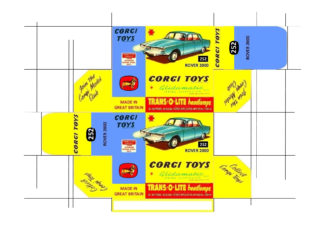 Corgi toys - Matchbox - Dinky - Templates for printing boxes Corgi toys
