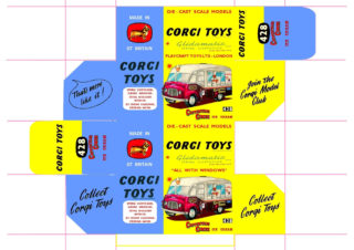 Corgi toys - Matchbox - Dinky - Templates for printing boxes