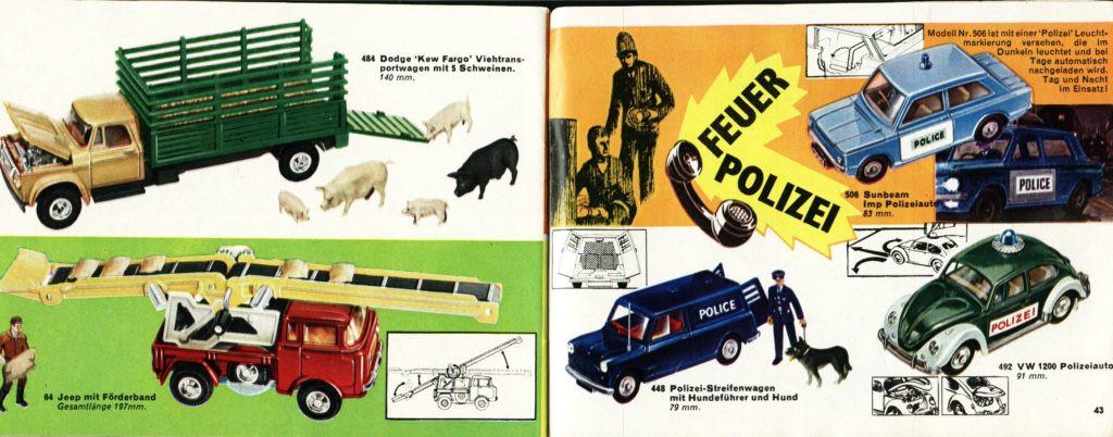 Corgi Toys - Katalog - 1969 german