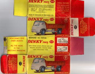 Dinky toys - Matchbox - Corgi toys - Templates for printing boxes