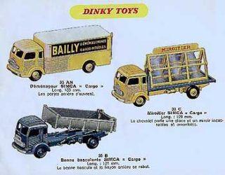 Французский каталог Katalog Dinky Toys - French 1958
