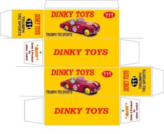 Matchbox - Dinky - Templates for printing boxes
