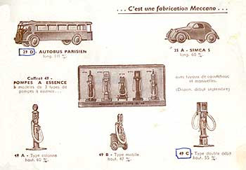 Французский каталог Katalog Dinky Toys - French 1949