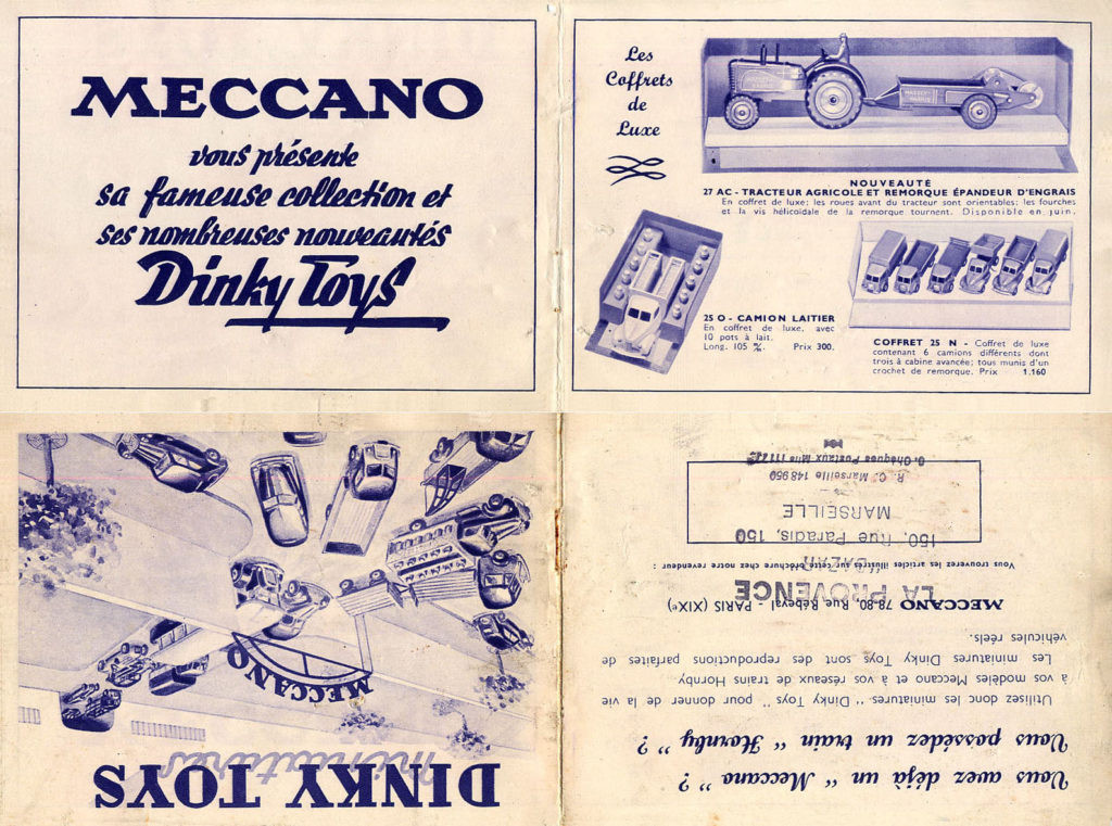 Французский каталог Katalog Dinky Toys - French 1950