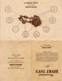 Французский каталог Katalog Dinky Toys - French 1951