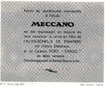 Французский каталог Katalog Dinky Toys - French 1954