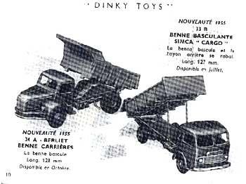 Французский каталог Katalog Dinky Toys - French 1955