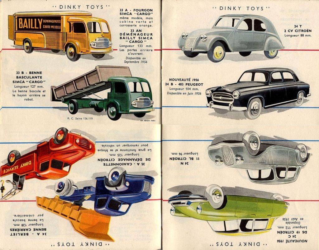 Французский каталог Katalog Dinky Toys - French 1956