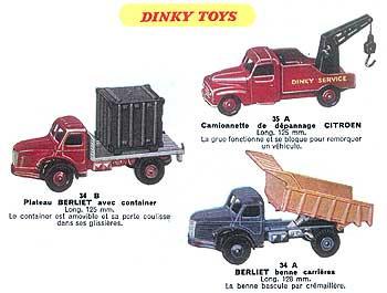Французский каталог Katalog Dinky Toys - French 1957