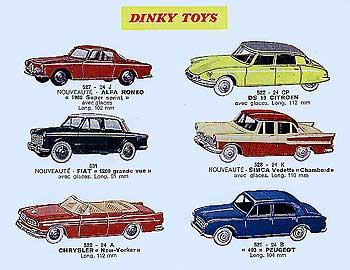 Французский каталог Katalog Dinky Toys - French 1960