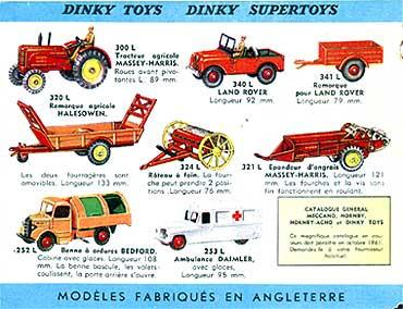 Французский каталог Katalog Dinky Toys - French 1961